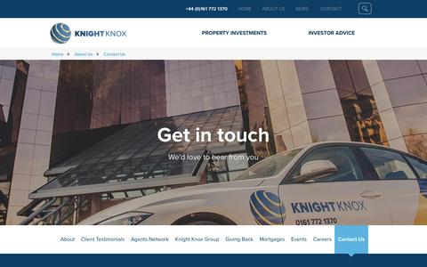Screenshot of Contact Page knightknox.com - Contact Us - Knight Knox - captured Nov. 27, 2016