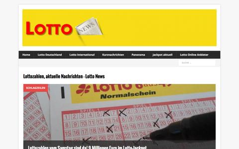 Screenshot of Home Page lotto-news.de - Lotto News - Nachrichten - captured Nov. 22, 2015