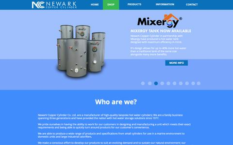 Screenshot of Home Page newarkcoppercylinder.co.uk - Newark Copper Cylinder | Manufacturers of Bespoke Copper and Stainless Steel Cylinders - captured Dec. 18, 2016