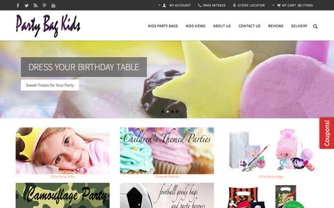 Screenshot of Home Page partybagkids.co.uk - Party Bag Kids-Party Bags-Ideas-Party Bag Ideas-Childrens Party Bags - captured Sept. 7, 2015