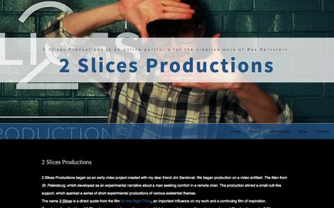 Screenshot of About Page 2slicesproductions.com - About 2 Slices Productions - captured Oct. 27, 2014