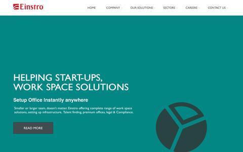 Screenshot of Home Page einstro.com - Home - captured Nov. 2, 2016