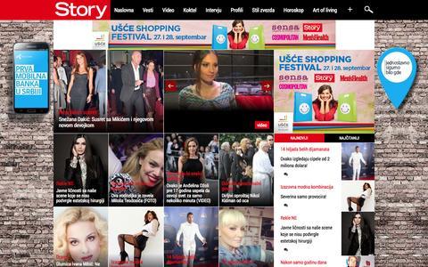 Screenshot of Home Page story.rs - Story.rs - Upoznajte poznate - captured Sept. 19, 2014