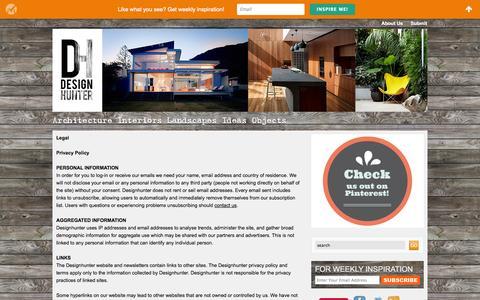 Screenshot of Terms Page designhunter.net - Legal | Designhunter - architecture & design blog - captured Sept. 30, 2014