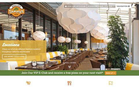 Screenshot of Home Page sammyspizza.com - Sammy's Woodfired Pizza & Grill | Pizza, Salads & More - captured Feb. 4, 2016
