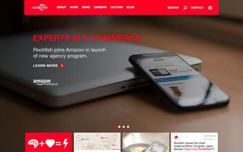 Screenshot of Home Page rockfishdigital.com - Rockfish – Full-Service Digital Advertising and Marketing Agency – Your Digital Innovation Partner – http://rockfi.sh - captured Jan. 27, 2016