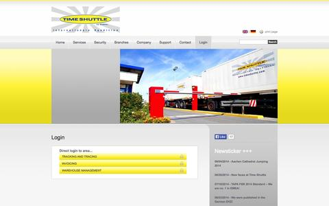 Screenshot of Login Page timeshuttle.com - Time Shuttle |Login - captured Oct. 7, 2014