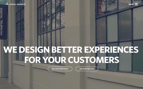 Screenshot of Home Page dtelepathy.com - User Experience Design - Product Design | Digital Telepathy - captured Dec. 11, 2015