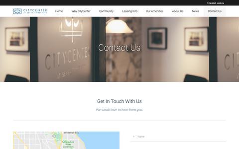 Screenshot of Contact Page citycenter735.com - Contact Us - captured Sept. 28, 2018