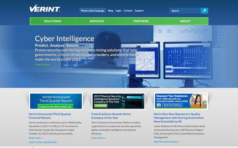Powering Actionable Intelligence | Verint Systems