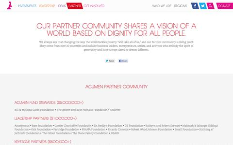 Screenshot of acumen.org - Acumen Partners Believe in a World Based on Dignity for All - captured March 20, 2016