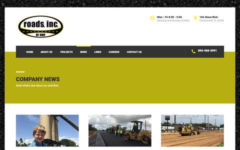 Screenshot of Press Page roadsinc.com - Company News – Roads Inc. - captured Oct. 20, 2018