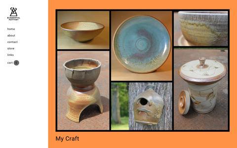 Screenshot of Home Page elementalpottery.com - Elemental Pottery - Elemental Pottery - captured July 17, 2018