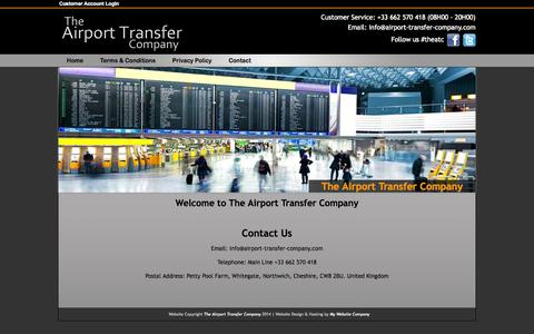 Screenshot of Contact Page airport-transfer-company.com - Contact The Airport Transfer Company | Nice Airport Transfers | Geneva Airport Transfers - captured Oct. 7, 2014