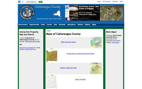 Screenshot of Maps & Directions Page cattco.org - Maps of Cattaraugus County | Cattaraugus County - captured Sept. 24, 2014