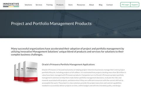 Screenshot of Products Page ims-web.com - Project and Portfolio Management Products | Innovative Management Solutions - captured April 21, 2017