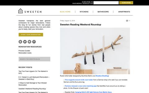 Screenshot of Blog sweeten.com - Sweeten Blog | Renovation stories, tips, and inspiration - captured Aug. 15, 2016