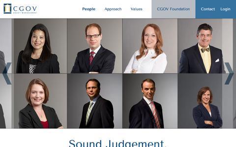Screenshot of Team Page cgov.ca - CGOV Asset Management - People - captured Jan. 22, 2016