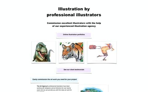 Screenshot of Home Page the-art-agency.co.uk - Professional illustrators | The Art Agency - captured Sept. 21, 2018