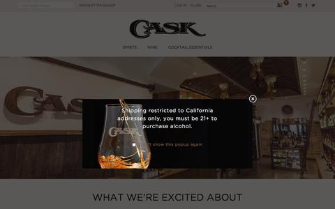 Screenshot of Home Page caskstore.com - Cask - captured July 16, 2018