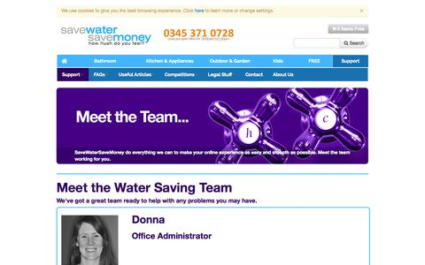 Screenshot of Support Page Team Page savewatersavemoney.co.uk - Support and Service we offer – meet the team - captured Oct. 23, 2014