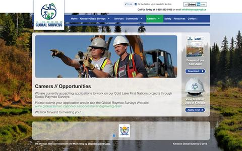 Screenshot of Jobs Page kinosooglobal.ca - Careers - captured Oct. 6, 2014
