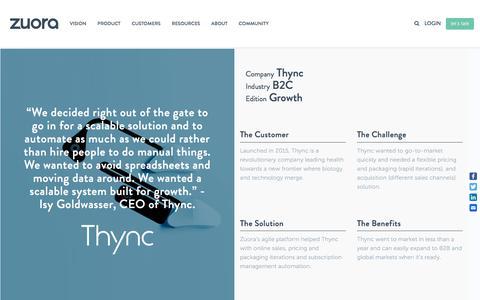Screenshot of Case Studies Page zuora.com - Zuora Case Study: Thync - captured Sept. 11, 2017