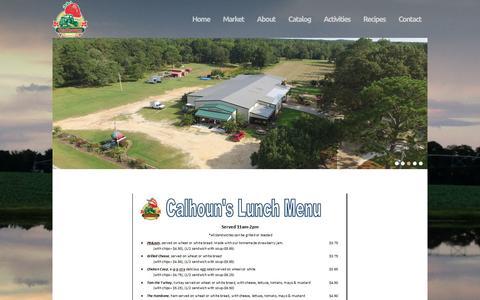 Screenshot of Menu Page calhounproduce.com - Menu - Calhoun Produce, Inc. - captured April 28, 2017