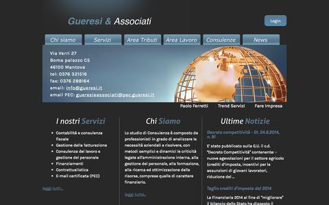 Screenshot of Home Page gueresi.it - Gueresi e Associati - - captured Oct. 3, 2014