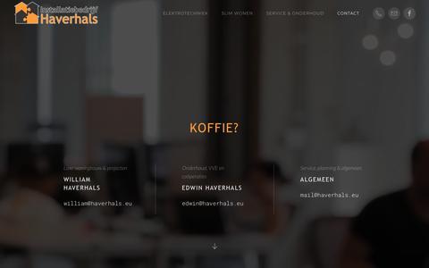 Screenshot of Contact Page haverhals.eu - Contact - Installatiebedrijf Haverhals - captured Sept. 27, 2018