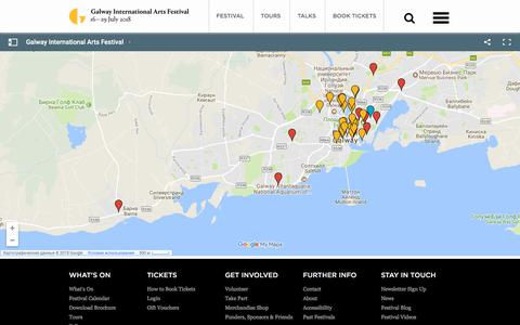Screenshot of Maps & Directions Page giaf.ie - Galway International Arts Festival venue map - captured July 2, 2018