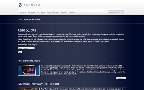 Screenshot of Case Studies Page senovva.com - SenovvA | Case Studies | SenovvA - captured Oct. 27, 2014