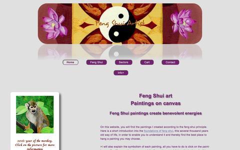 Screenshot of Home Page feng-shui-artist.net - Feng Shui Artist   Feng shui paintings on canvas - captured Nov. 22, 2016
