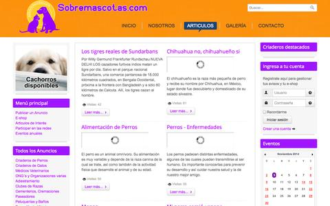 Screenshot of Blog sobremascotas.com - Sobremascotas.com - Articulos - captured Nov. 3, 2014