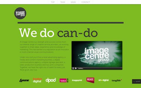 Screenshot of Team Page image-centre.com - Image Centre Group - captured Sept. 30, 2014