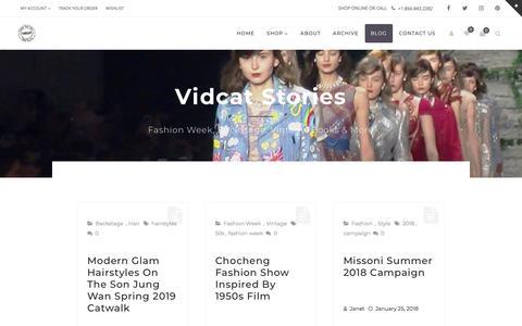 Screenshot of Blog vidcat.com - Vidcat Stories | Vidcat - captured Sept. 20, 2018