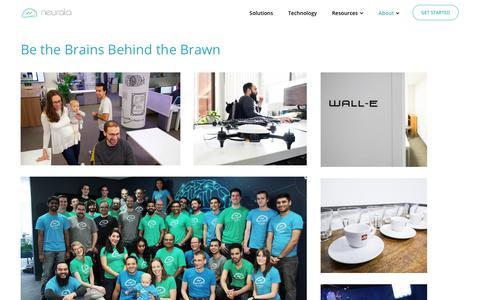 Screenshot of Jobs Page neurala.com - Careers - About   Neurala - captured May 17, 2018