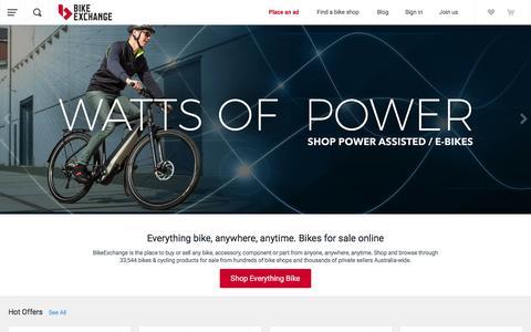 Screenshot of Home Page bikeexchange.com.au - Bikes for Sale   Bike and Cycling Shops - BikeExchange.com.au - captured June 1, 2017