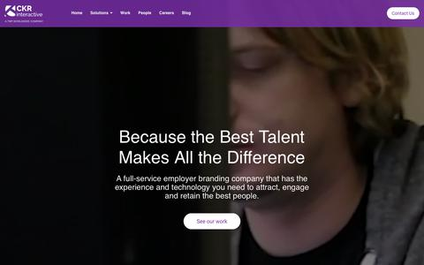 Screenshot of Home Page ckrinteractive.com - CKR Interactive - captured July 12, 2019