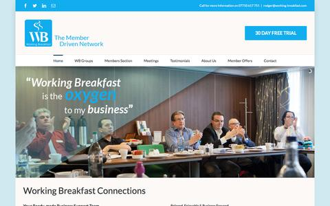 Screenshot of Home Page working-breakfast.com - Home - Working Breakfast - captured Dec. 18, 2016