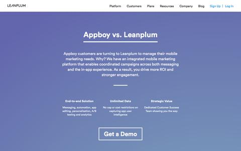 Appboy vs. Leanplum: Experience the Difference | Leanplum