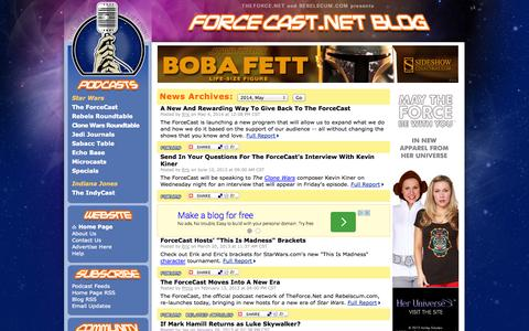 Screenshot of Blog forcecast.net - ForceCast.net: Blog - captured Sept. 19, 2014