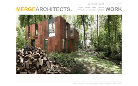 Screenshot of Home Page mergearchitects.com - Merge Architects « Boston-based Architecture Firm Merge Architects - captured Sept. 26, 2014