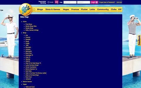 Screenshot of galabingo.com - Sitemap   Gala Bingo - captured July 18, 2015