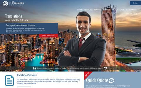 U.S. Translation Company | Industry-Specific Quality Translation and Interpretation Services