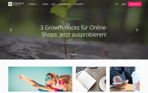 Screenshot of Home Page ecommerce-lounge.de - eCommerce Lounge » eCommerce Blog über News & Trends aus dem Online-Handel - captured Aug. 4, 2015