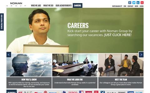 Screenshot of Jobs Page nomangroup.com - Careers   Noman Group - captured Oct. 26, 2014