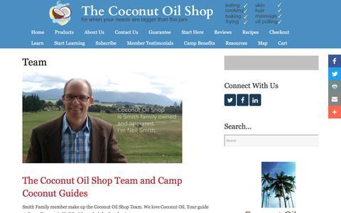 Screenshot of Team Page coconutoilshop.co.nz - Smiliest Team Members | Coconut Oil Shop | Camp Coconut - captured July 19, 2018