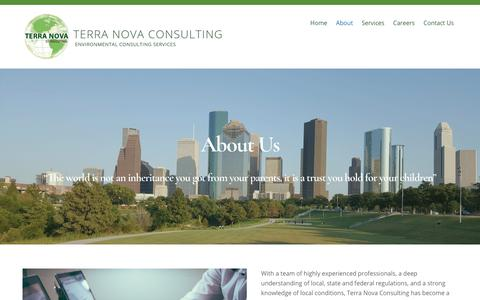 Screenshot of About Page ternov.com - About - Terra Nova Consulting - captured Sept. 25, 2018