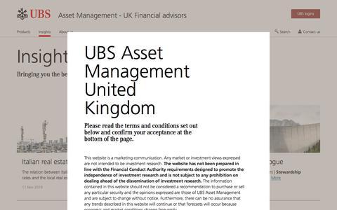 Screenshot of Team Page ubs.com - Asset Management Insights | UBS United Kingdom - captured Nov. 14, 2019